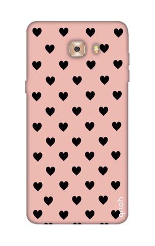 Black Hearts On Pink Samsung C9 Cases & Covers Online