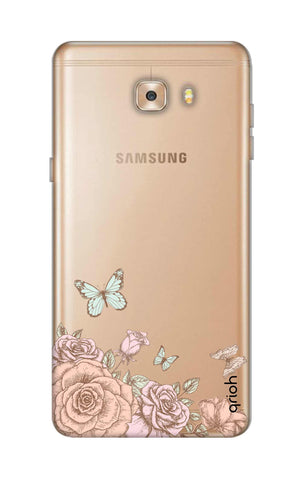 Flower And Butterfly Samsung C9 Cases & Covers Online
