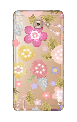Multi Coloured Bling Floral Samsung C9 Cases & Covers Online