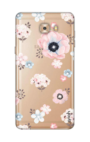 Beautiful White Floral Samsung C9 Cases & Covers Online