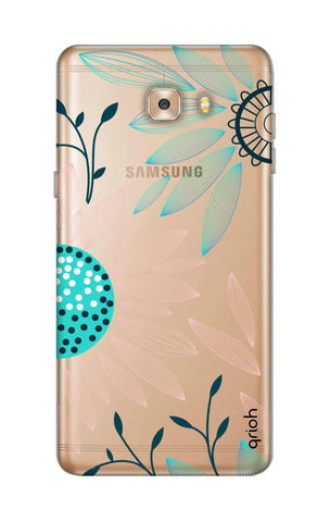 Pink And Blue Petals Samsung C9 Cases & Covers Online