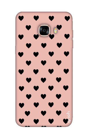Black Hearts On Pink Samsung C5 Cases & Covers Online