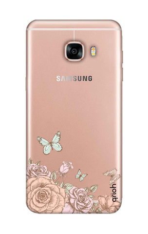 Flower And Butterfly Samsung C5 Cases & Covers Online