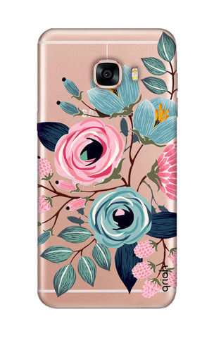 Pink And Blue Floral Samsung C5 Cases & Covers Online