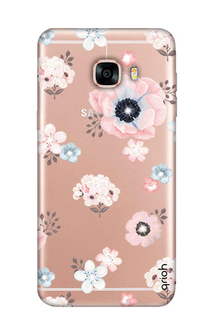 Beautiful White Floral Samsung C5 Cases & Covers Online