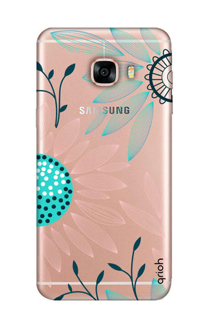 Pink And Blue Petals Samsung C5 Cases & Covers Online