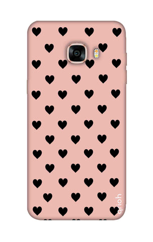 Black Hearts On Pink Samsung C7 Cases & Covers Online