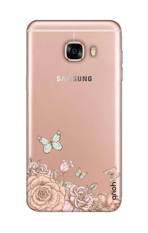 Flower And Butterfly Samsung C7 Cases & Covers Online