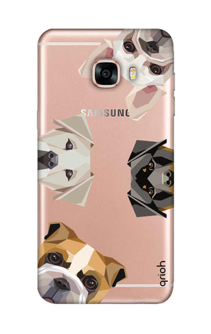 Geometric Dogs Samsung C7 Cases & Covers Online
