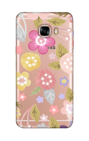 Multi Coloured Bling Floral Samsung C7 Cases & Covers Online