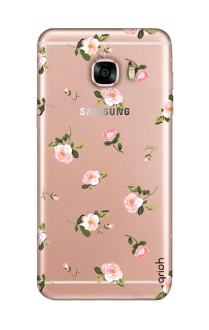 Pink Rose All Over Samsung C7 Cases & Covers Online
