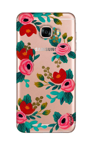 Red Floral Samsung C7 Cases & Covers Online