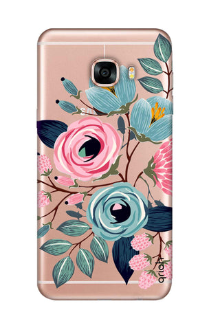 Pink And Blue Floral Samsung C7 Cases & Covers Online