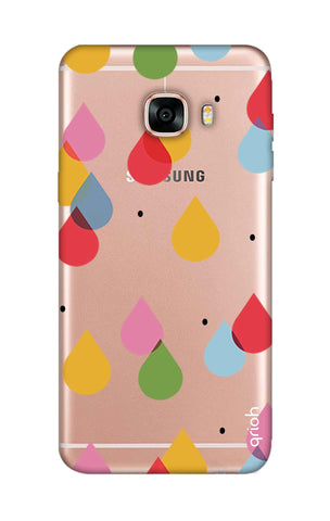 Colourful Drops Samsung C7 Cases & Covers Online