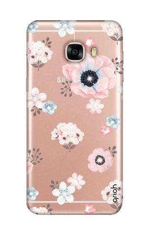 Beautiful White Floral Samsung C7 Cases & Covers Online