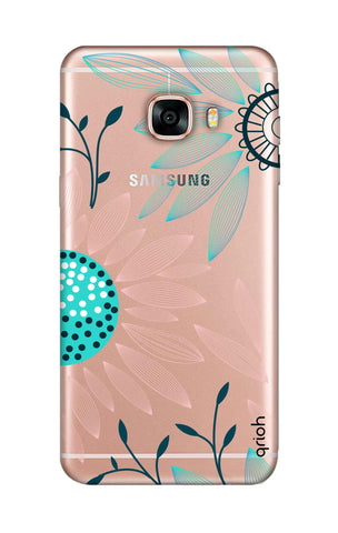 Pink And Blue Petals Samsung C7 Cases & Covers Online