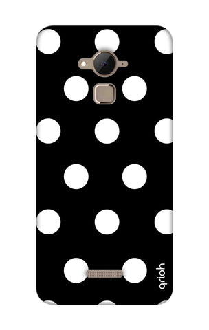 White Polka On Black Coolpad Note 3 Cases & Covers Online