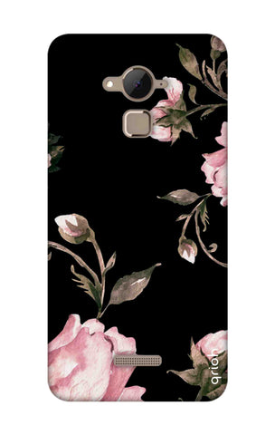 Pink Roses On Black Coolpad Note 3 Cases & Covers Online