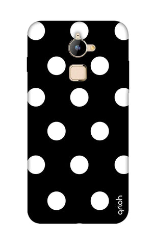 White Polka On Black Coolpad Note 3 Lite Cases & Covers Online
