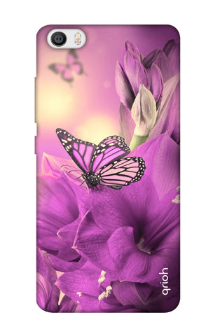 Purple Butterfly Xiaomi Mi 5 Cases & Covers Online