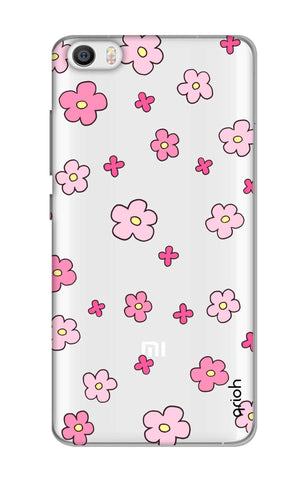 Pink Flowers All Over Xiaomi Mi 5 Cases & Covers Online