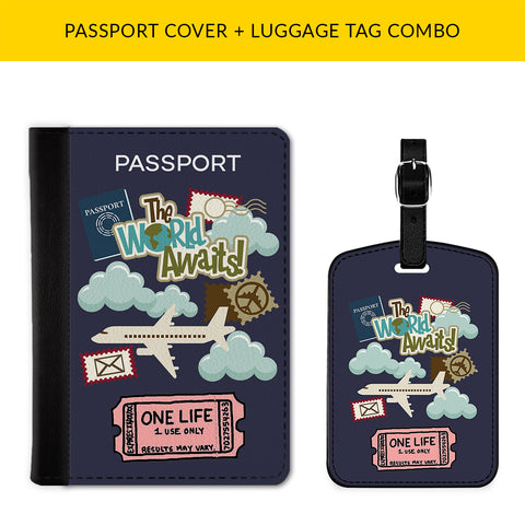 One Life Passport & Luggage Tag Combo