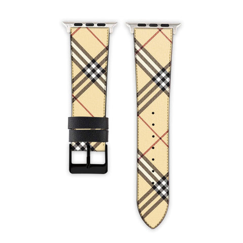 Luxury Check Pattern Strap for Apple Watch Online