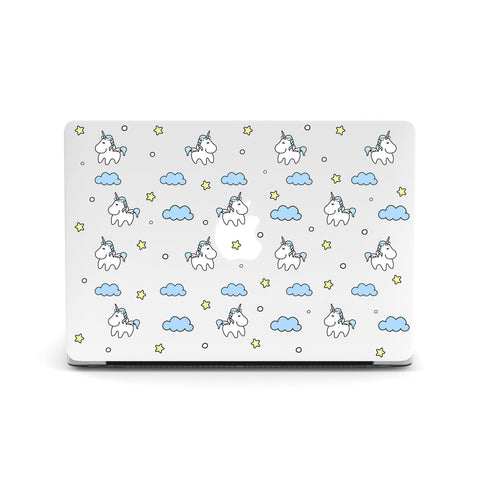 Unicorns In Sky Macbook Covers
