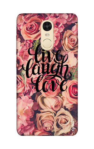 Floral Live, Laugh, Love Xiaomi RedMi Note 4 Cases & Covers Online