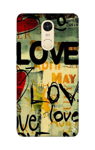 Love Text Xiaomi RedMi Note 4 Cases & Covers Online