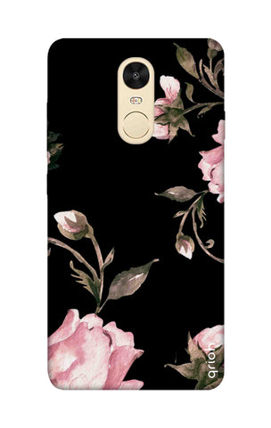 Pink Roses On Black Xiaomi RedMi Note 4 Cases & Covers Online