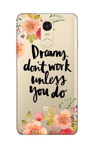 Make Your Dreams Work Xiaomi RedMi Note 4 Cases & Covers Online