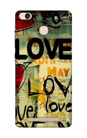 Love Text Xiaomi 3S Prime Cases & Covers Online