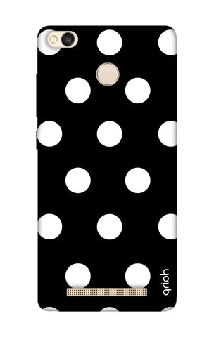 White Polka On Black Xiaomi 3S Prime Cases & Covers Online