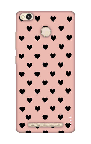 Black Hearts On Pink Xiaomi 3S Prime Cases & Covers Online