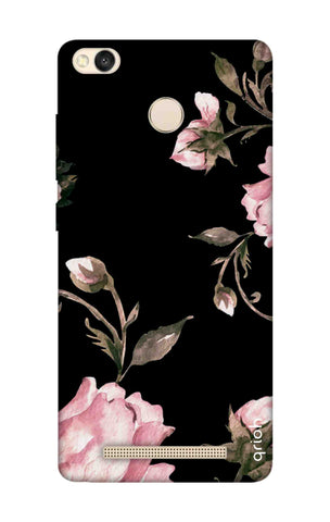 Pink Roses On Black Xiaomi 3S Prime Cases & Covers Online