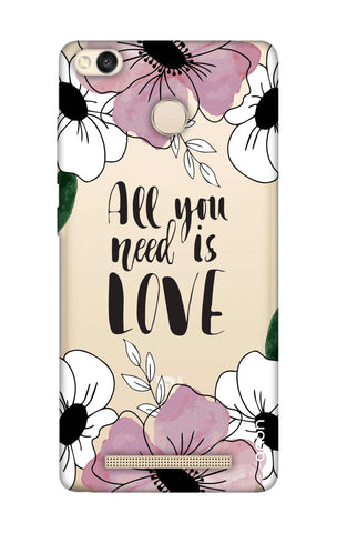 All You Need is Love Xiaomi 3S Prime Cases & Covers Online