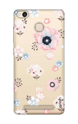Beautiful White Floral Xiaomi 3S Prime Cases & Covers Online