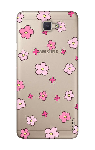 Pink Flowers All Over Samsung J7 Prime Cases & Covers Online