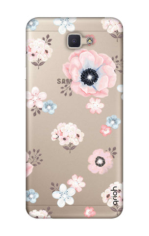 Beautiful White Floral Samsung J7 Prime Cases & Covers Online