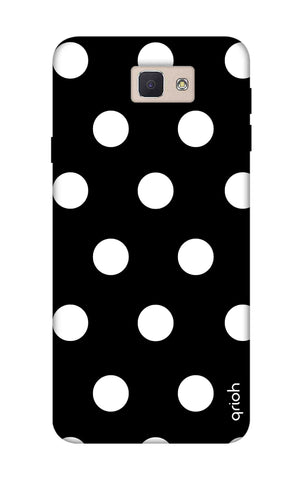 White Polka On Black Samsung J5 Prime Cases & Covers Online