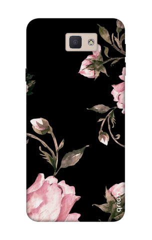 Pink Roses On Black Samsung J5 Prime Cases & Covers Online