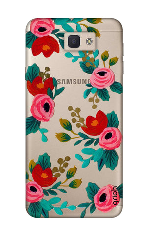 Red Floral Samsung J5 Prime Cases & Covers Online