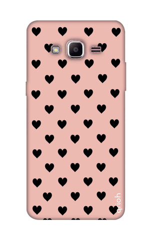 Black Hearts On Pink Samsung J2 Prime Cases & Covers Online