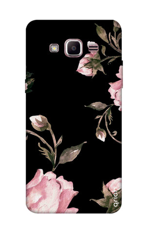 Pink Roses On Black Samsung J2 Prime Cases & Covers Online
