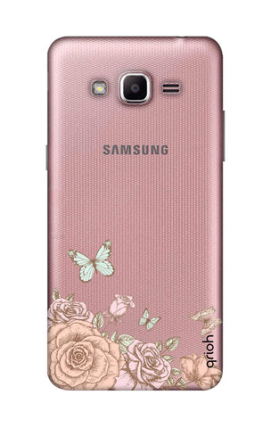 Flower And Butterfly Samsung J2 Prime Cases & Covers Online