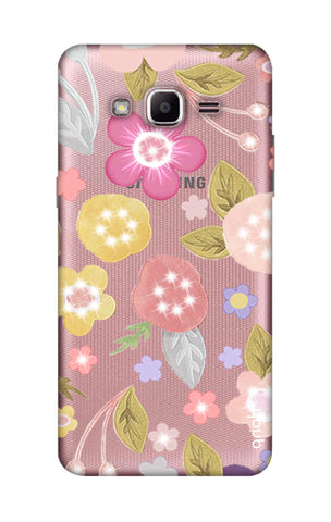 Multi Coloured Bling Floral Samsung J2 Prime Cases & Covers Online