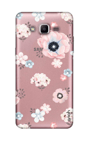 Beautiful White Floral Samsung J2 Prime Cases & Covers Online