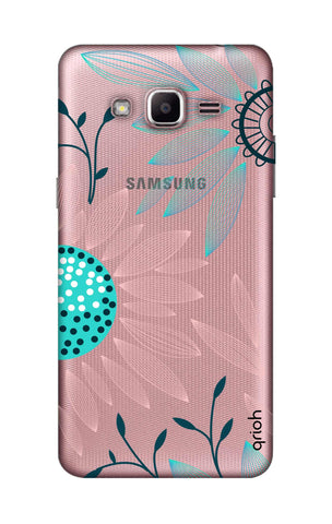 Pink And Blue Petals Samsung J2 Prime Cases & Covers Online