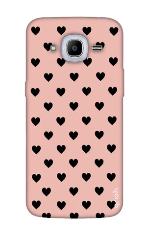 Black Hearts On Pink Samsung J2 2016 Cases & Covers Online